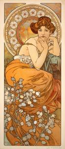 The Precious Stones: Topaz, 1900 by Alphonse Mucha