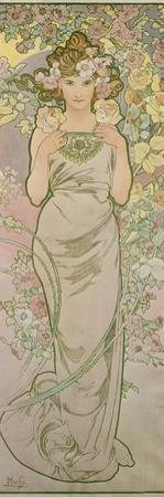 The Rose, 1898 by Alphonse Mucha