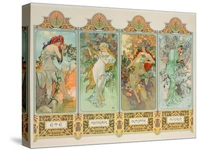 The Seasons: Variant 3 by Alphonse Mucha