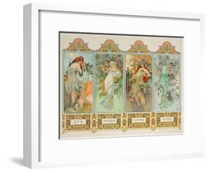 The Seasons: Variant 3 by Alphonse Mucha
