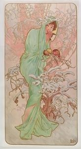 The Seasons: Winter, 1896 by Alphonse Mucha