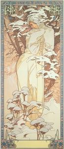 The Seasons: Winter, 1900 by Alphonse Mucha