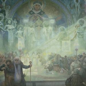 The Slav Epic: Holy Mount Athos, 1928 by Alphonse Mucha