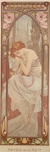 The Times of the Day: Night's Rest, 1899 by Alphonse Mucha