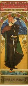 Tragedy Of Hamlet With Sarah Bernhardt by Alphonse Mucha