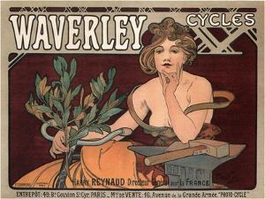 Waverley Cycles, 1896 by Alphonse Mucha
