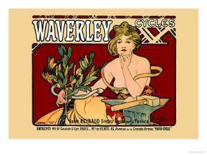 Waverley Cycles by Alphonse Mucha