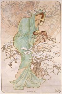 Winter; Hiver, C.1896 by Alphonse Mucha
