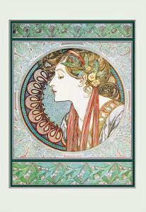 Woman's Profile by Alphonse Mucha
