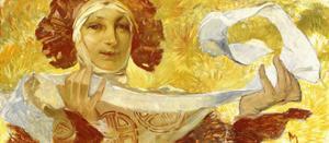 Woman with a Ribbon, C. 1902-1903 by Alphonse Mucha