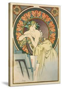 Woman with Poppies, 1898 by Alphonse Mucha