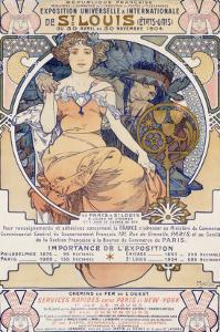 World's Fair, St. Louis, Missouri, 1904 by Alphonse Mucha