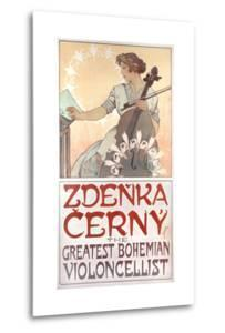 Zdenka Cerny, the Greatest Bohemian Violoncellist, 1913 by Alphonse Mucha