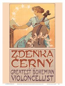 Zdenka Cerný - The Greatest Bohemian Violoncellist by Alphonse Mucha