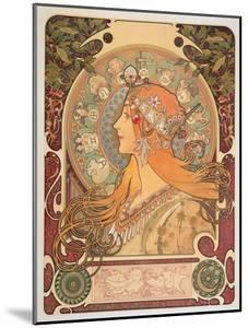 Zodiac, 1896 by Alphonse Mucha