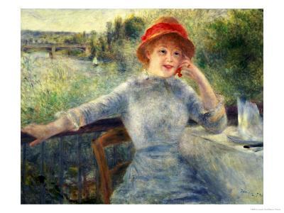 Alphonsine Fournaise at the Grenouillere, 1879-Pierre-Auguste Renoir-Giclee Print