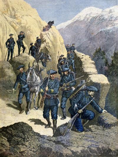 Alpine Chasseurs, 1891-F Meaulle-Giclee Print