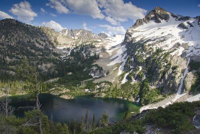 Alpine Lake and Mountain Peak, Sawtooth Nf, Idaho-Howie Garber-Photographic Print