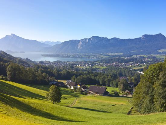Alpine Meadow, Mondsee, Mondsee Lake, Oberosterreich, Upper Austria, Austria-Doug Pearson-Photographic Print