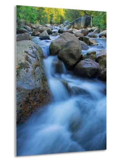 Alpine River in Autumn, Hope Valley California-Vincent James-Metal Print