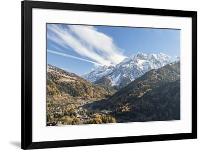 Alpine village of Ponte Di Legno during autumn, Brescia province, Valcamonica, Lombardy, Italy, Eur-Roberto Moiola-Framed Photographic Print