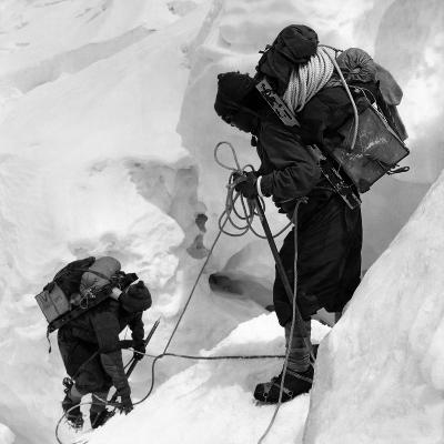 Alpinists Roped Together on the Mount Everest--Photographic Print