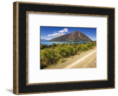 Alps to Ocean Cycle Trail at Lake Ohau, Southern Alps, Canterbury, South Island, New Zealand-Russ Bishop-Framed Photographic Print