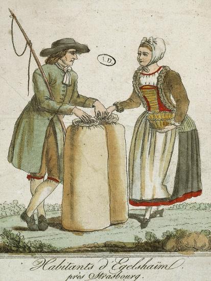 Alsatian Costumes: Dwellers of Egelshaim, Near Strasbourg--Giclee Print