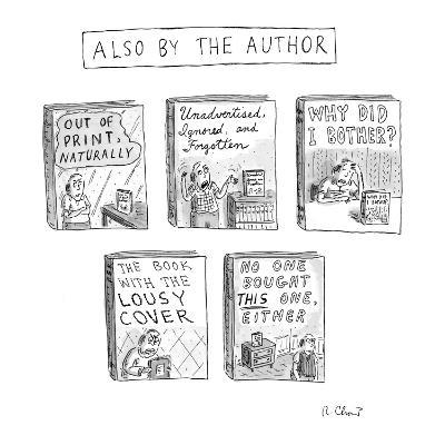 'Also by the Author' - New Yorker Cartoon-Roz Chast-Premium Giclee Print