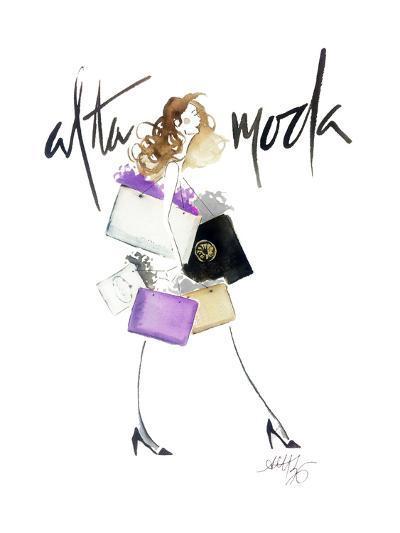 Alta Moda Purple-Alicia Zyburt-Art Print