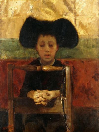 Altar Boy Praying, C.1865-1875-Antonio Mancini-Giclee Print