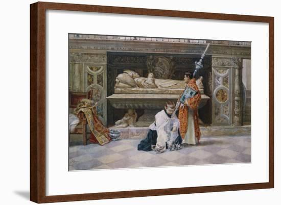 Altar Boys in a Church Interior-Jose Villegas Y Cordero-Framed Giclee Print