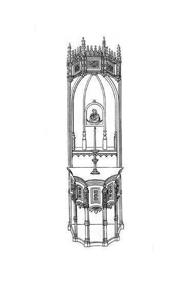Altar, C15th Century-Henry Shaw-Giclee Print