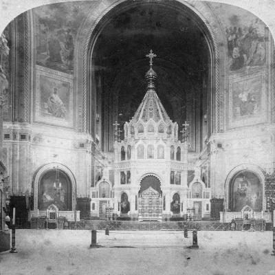 Altar, Cathedral of Christ the Saviour, Moscow, Russia, 1898-Underwood & Underwood-Giclee Print