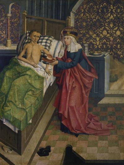 Altar des Nikolaus Puchner. die Selige Agnes Pflegt Einen Kranken- Master of Kreuzberg-Giclee Print