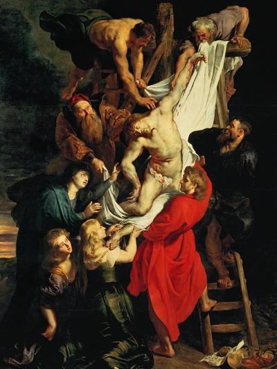 Altar: Descent from the Cross, Central Panel-Peter Paul Rubens-Giclee Print