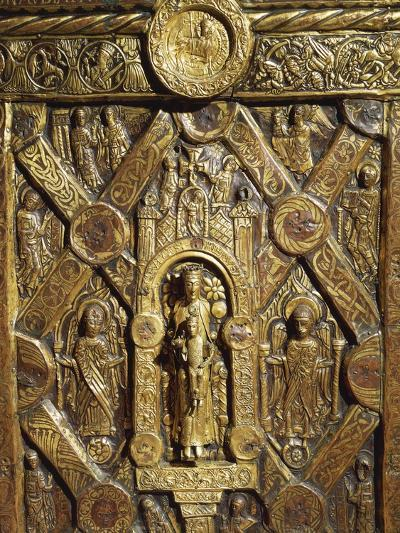 Altar Frontal Depicting Enthroned Virgin Mary and Angels, from Lisbjerg Near Aarhus--Giclee Print