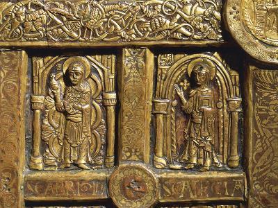 Altar Frontal Depicting Saint Brigid and Saint Thecla, from Lisbjerg Near Aarhus--Giclee Print