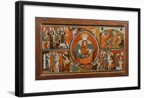 Altar Frontal from St. Margaret De Vilaseca, 12th Century--Framed Giclee Print