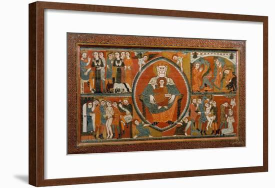 Altar Frontal from St. Margaret De Vilaseca, 12th Century--Framed Giclee Print