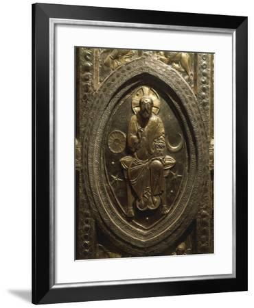 Altar Frontal in Embossed Silver, Partly Gilded--Framed Giclee Print