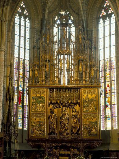 Altar in 14th Century Church of St. Jacob, Levoca, Slovakia-Upperhall-Photographic Print