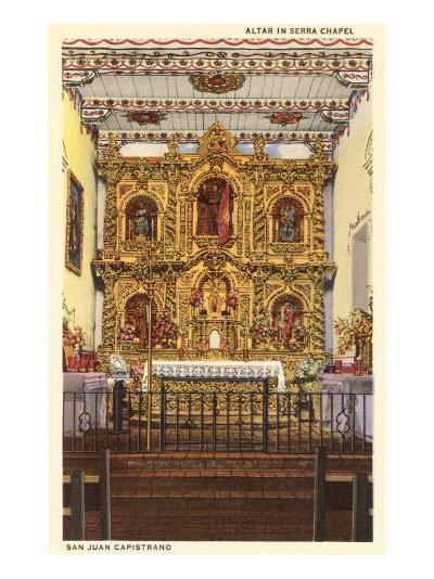 Altar in Serra Chapel, San Juan Capistrano Mission, California--Art Print