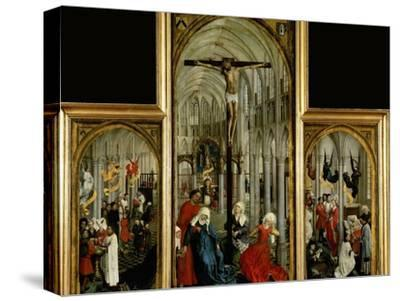 Altar of the Seven Sacraments, Painted Before 1450-Rogier van der Weyden-Stretched Canvas Print