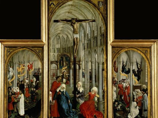 Altar Of The Seven Sacraments Painted Before 1450 Giclee Print By
