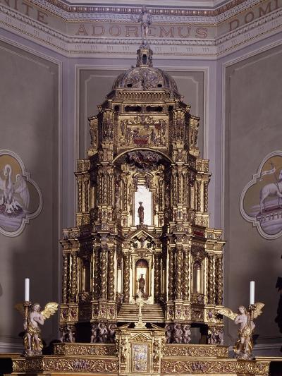 Altar, San Lorenzo Parish Church, Antronapiana, Antrona Schieranco, Italy--Giclee Print