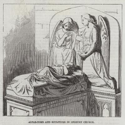 Altar-Tomb and Sculptures in Ledbury Church--Giclee Print