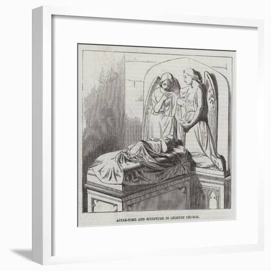 Altar-Tomb and Sculptures in Ledbury Church--Framed Giclee Print