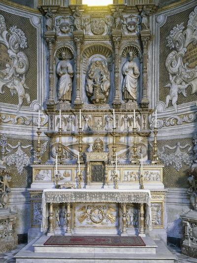 Altar with Marble Relief Depicting Coronation of Saint Agatha, Right Apse of Sant'Agata Chapel--Giclee Print