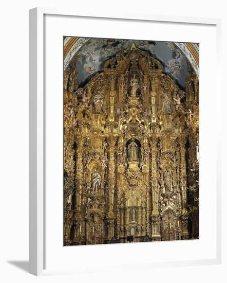 Altarpiece Dedicated to St. Francis Xavier, 1753-Miguel Cabrera-Framed Giclee Print